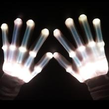 Scream Bottom Price Led Glove Hip Hop/Rave Party/Bar Light Up Gloves Different Designs Pink Flashing Glove