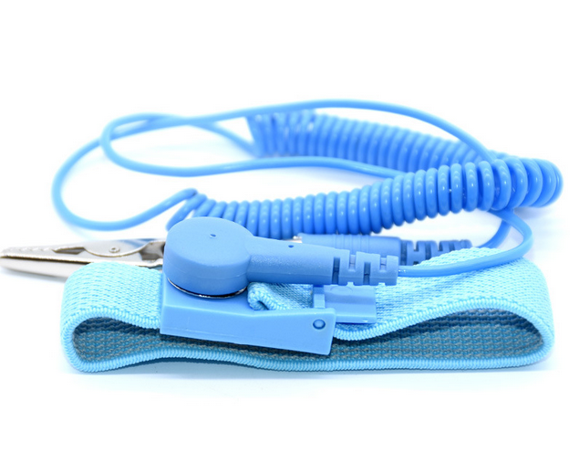 ESD anti static wrist strap wrist band with coil cord for cleanroom