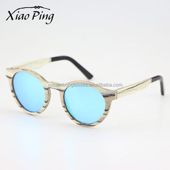 Good Quality Factory Price Handmade Round Wood Polarized Sunglasses With Engraved Logo