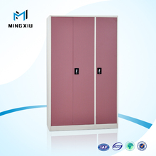 Luoyang low price 3 door cheap steel almirah cabinet / steel wardrobe