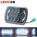 Factory Price!!! 5x7 85w Replacement Sealed beam led square headlights for Excavator, truck, heavy machinery equipment with DRL