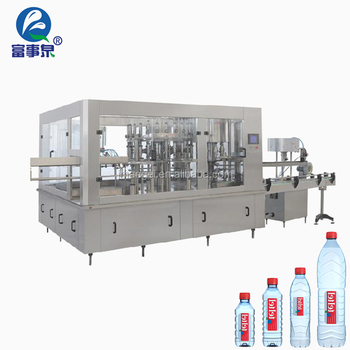 ISO14001 Certified automatic 3-in-1 monobloc mineral water filling machine