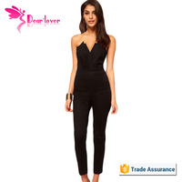 Hot Sale New Sexy Black bodycon jumpsuits for women 2016