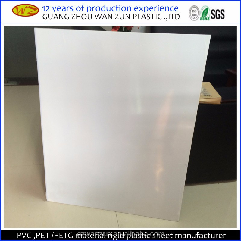 opaque offset printing white pvc rigid plastic sheet for playing cards