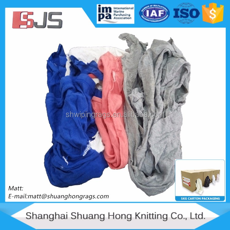 Color T-shirt cotton rags (used) liquid absorbing materials clothing per pound