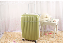 "modern fashion tan color men and women large 28"" ABS PC trolley luggage with plane wheels factory"