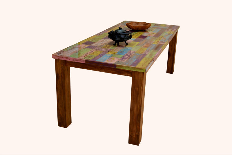 Recycled Teak Mozaik table