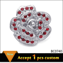 China retailer hollow out flower brooch, Cheap oil drop flower brooch for women