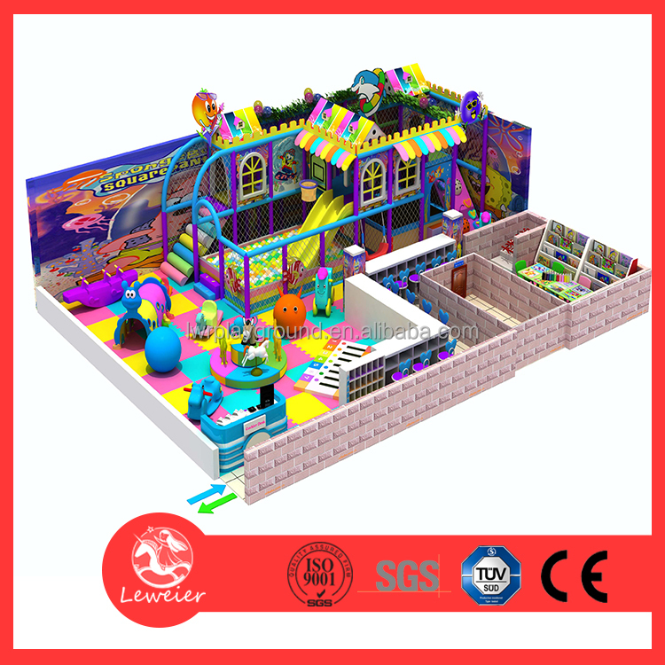 Candy theme children indoor soft play areas Kids play system structure for games Children's Playground