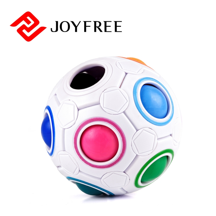 Fidget Ball Rainbow Magic Ball Puzzle Spherical Cube 3D Fidget Roll Toy Intelligence Educational Toys Cubes for Kids and Adults
