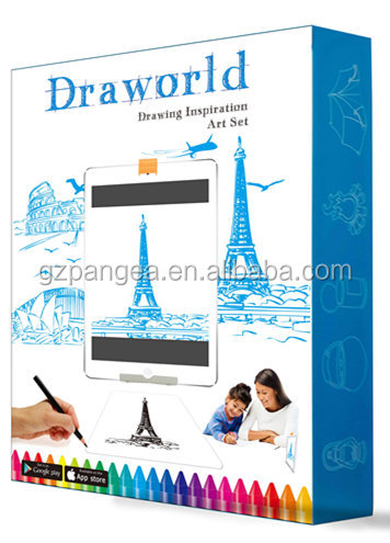 Preschool educational drawing stencil 3d draw learning kit with app for kids