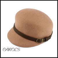 beige wool felt hat blank wholesale newsboy ivy cap