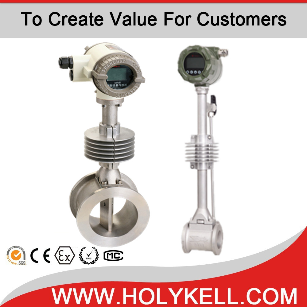 Price Intelligent Vortex Flow Meter Measuring Gas Steam Air Flow Meter