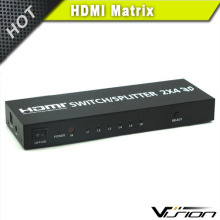 Vision high speed gold plated 1080p 2 input 4 output hdmi switch splitter