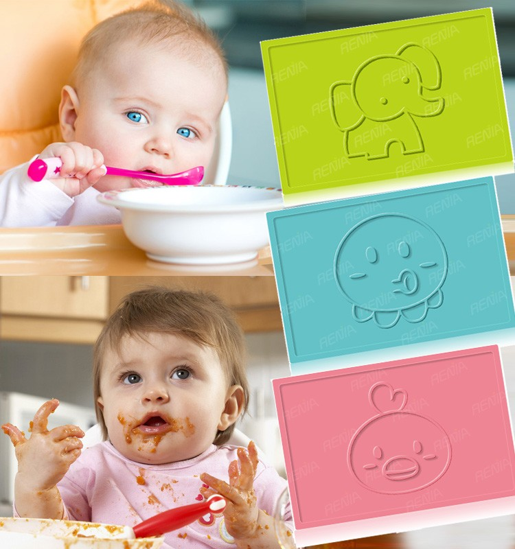 RENJIA custom silicone place mat silicon table mat silicone cake mat die cut placemat for kids