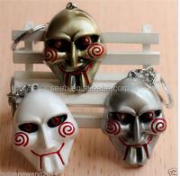 Hot Movie Saw Mask Keychain Alloy Key ring Unisex Accessories Christmas gift