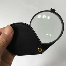 Portable folding magnifier 5x 2.5''glass lens(60mm) size fit in a pocket