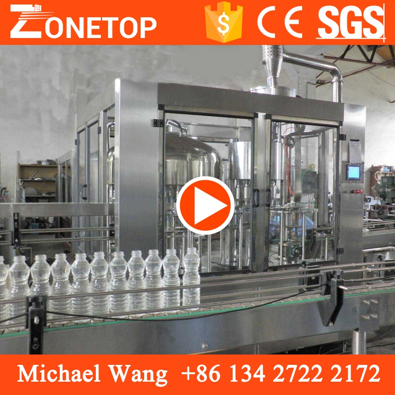 Cheap price portable plastic bottle spring water bottling machine with 3 in 1 technology