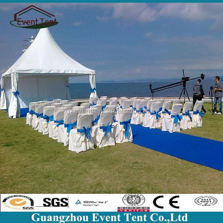 White Wedding Big Pagoda Tent with Curtains & Linings