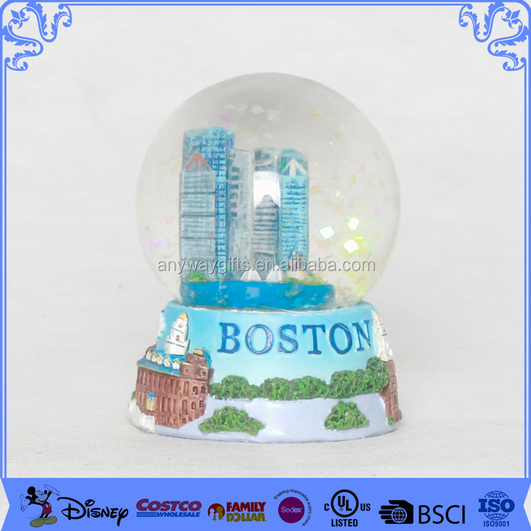 Wholesale boston resin snow globe