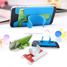 Custom Logo colourful One touch silicone mobile phone stand