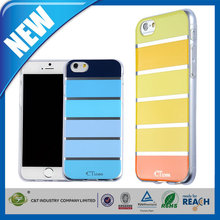 C&T High Quality flexible slim glossy stripes soft gel tpu cover skin for iphone 6 plus case