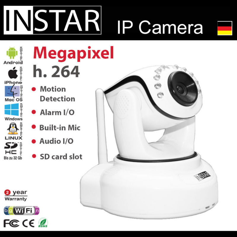 Megapixel h.264, Motion Detection IP Network Camera