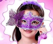 Wholesale Fashion children custom party mask with butterfly