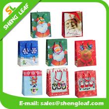 Custom printed logo christmas paper shopping bags with best price