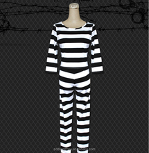 Hot sale OEM prison costumes ladies convict prison uniforms