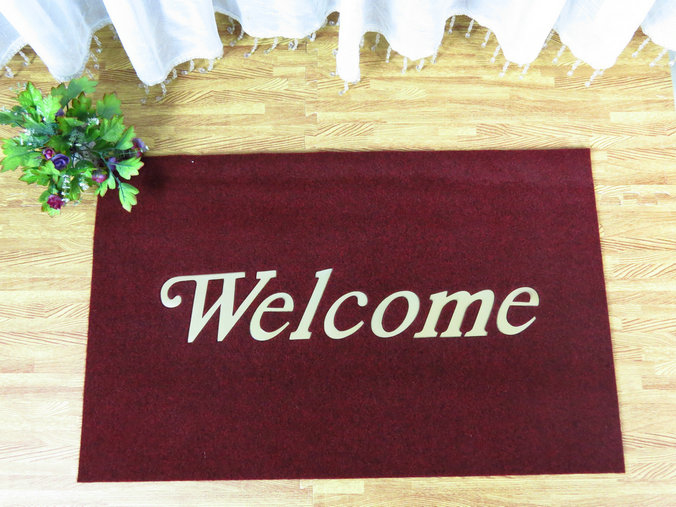 Indoor Outdoor Anti Slip Pvc Backed Coir Mat Coco