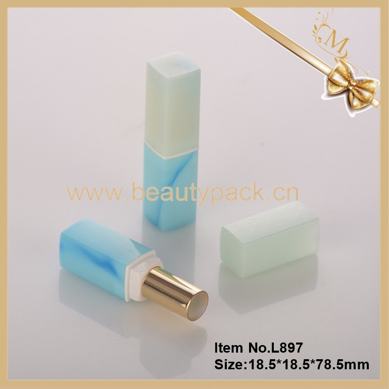 Custom newest water printing plastic lipstick container
