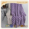 Grape purple dots printed hot seller thick throw blanket