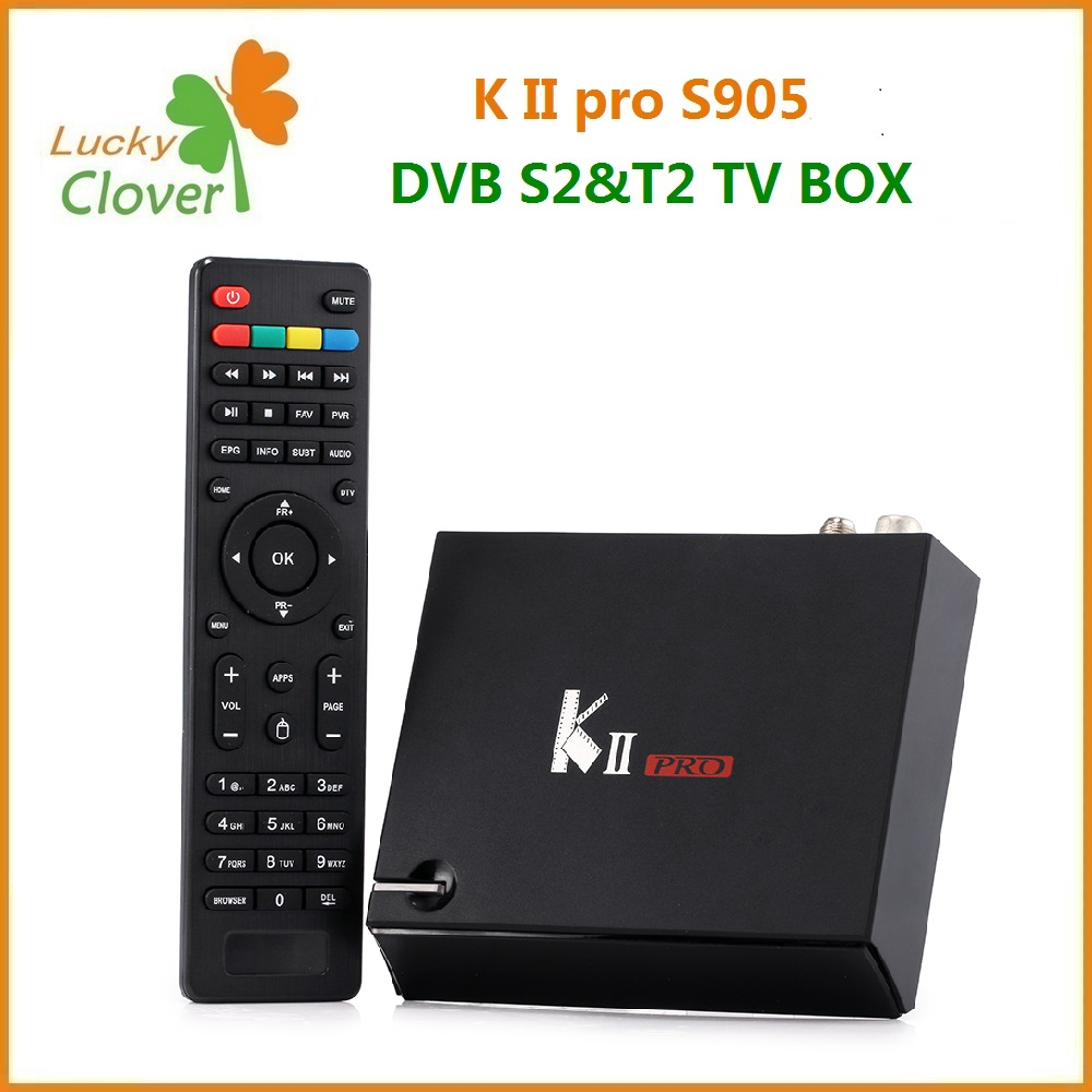 luckyclover K2 pro Amlogic S905 Android TV box HD Android DVB S2+DVB T2 Combo tv box