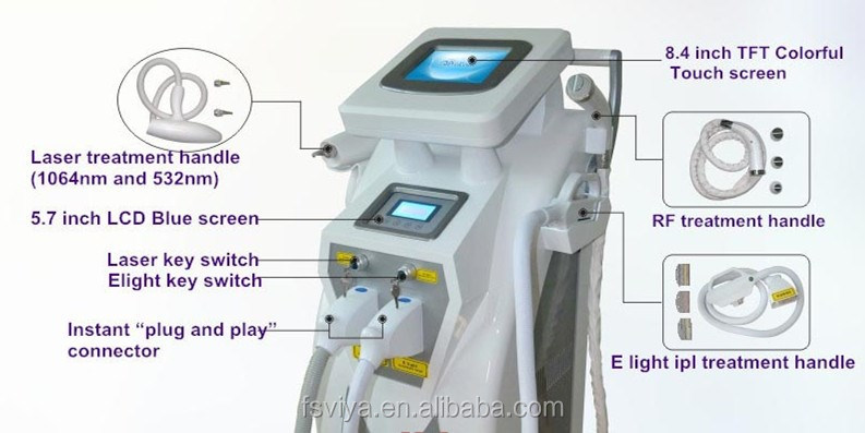 Hotsale 4 in 1 Laser rf OPT shr hair removal machine