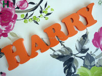 Painted Wooden Letter, Custom Wooden HAPPY Letter