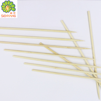 Disposable wooden handle flat bbq beef skewer