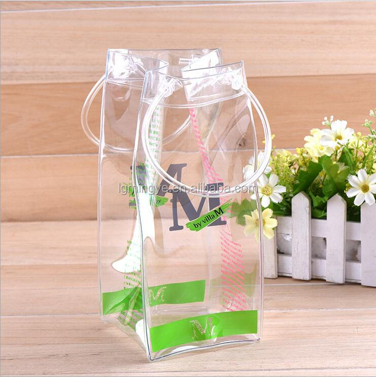 wholesale custom waterproof promotional pvc ice wine bag