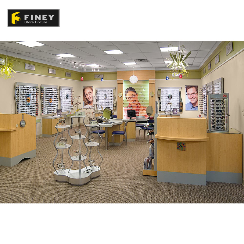 Guangzhou Professional Optical Display Eyewear Shop Design in Furniture