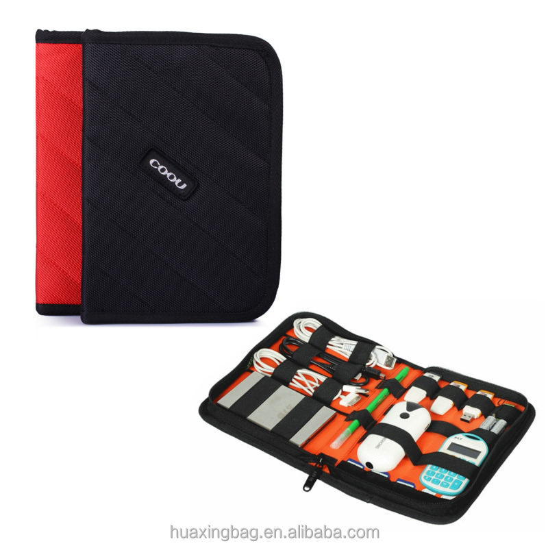 compact travel digital accessories organizer bag/kit
