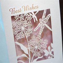 Promotional branded feathers paper post card cutting