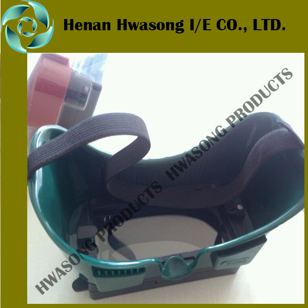 new flip type green/red welding goggle