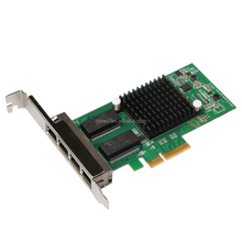 Good Quality 4 Port RJ45 10/100/1000mbps multi port lan card lan card drivers for windows 7 Intel I350 PCI-E LAN Card