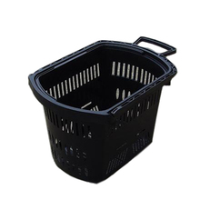 Hot Sale 45L Shopping Plastic Trolley Baskets With Wheels and Hanle