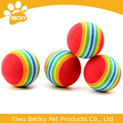 EVA material rainbow ball pet toys dog toys pet products