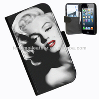 Cheap getable christmas gift flip leather cover protective case for iphone5S 5C,sexy shape case for iphone5S 5C, case for iphone