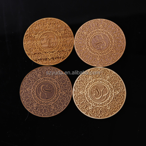 Custom Pop pattern Coaster Laser Cut/Engraved Wood Coaster for cup coffee or tea