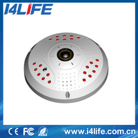 2.0Megapixel Lens wifi modem 360 degree ip camera Panoramic fish eye with poe 24 infrared leds