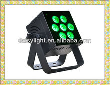 RGBAWV 6-IN-1 LED Flat Indoor Par Event Light High power 12w*7pcs