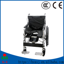 Multi-Configuration aluminum standard wheelchair with toilet